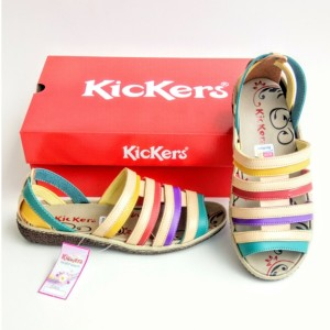 Harga sepatu wanita sandal cewe sepatu sandal kickers women kode 017   rainbow | HARGALOKA.COM