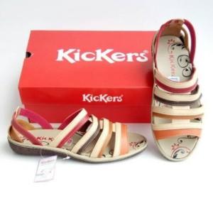 Harga sepatu cewe sepatu sandal wanita sepatu kickers women kode 014   merah krem | HARGALOKA.COM