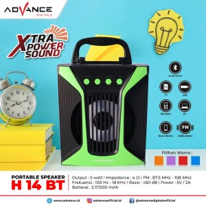 Harga speaker bluetooth mp3 advance h 14 | HARGALOKA.COM