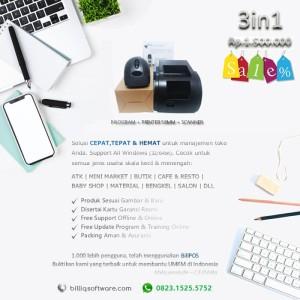 Harga paket komputer kasir toko murah 3in1 software printer scanner | HARGALOKA.COM