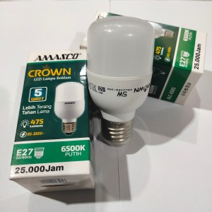 Harga lampu led amasco crown 5w led kapsul murah terang led tabung   HARGALOKA.COM
