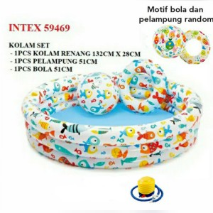 Harga kolam renang anak intex jumbo 1 set free pompa injak   nnas tnpa | HARGALOKA.COM