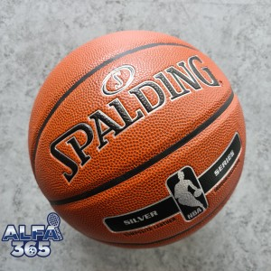 Harga bola basket spalding nba silver   official indoor outdoor | HARGALOKA.COM