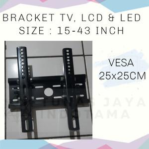 Harga bracket tv lcd led 15 43 inch vesa 25x25cm   | HARGALOKA.COM