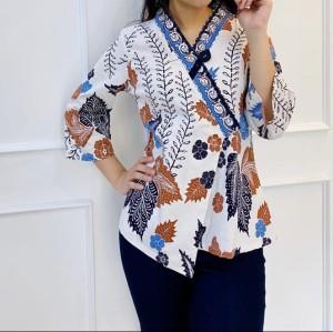 Harga baju kerja batik wanita lengan 3 4 c262ara jb batik | HARGALOKA.COM