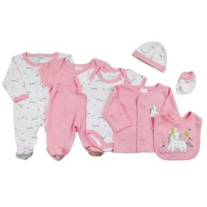 Harga paket baju bayi baby bodyset 8in1 motif lovely horse   0 3 | HARGALOKA.COM