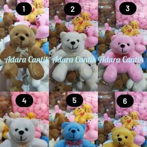 Harga boneka teddy bear 15cm cantik lucu imut buat koleksi kado     HARGALOKA.COM