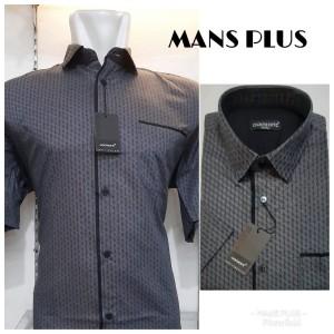 Harga kemeja ukuran besar xxl xxxl atasan pria formal casual bigsize q28   hitam | HARGALOKA.COM