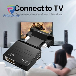 Harga konverter vga to hdmi untuk laptop komputer kabel audio 3 | HARGALOKA.COM