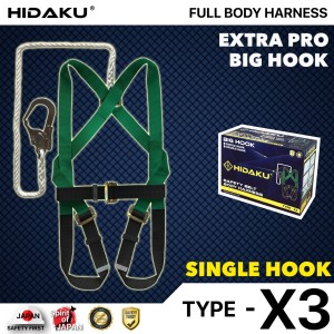 Harga full body harness hidaku series x3 single hook safety belt hidaku   HARGALOKA.COM