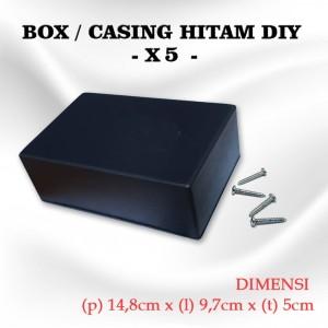Harga box kotak casing plastik x5 for komponen ukuran 14 8 x 9 7 x 5 | HARGALOKA.COM