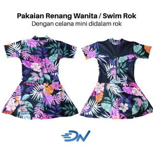 Harga baju renang wanita dewasa motif bunga model rok   bunga | HARGALOKA.COM