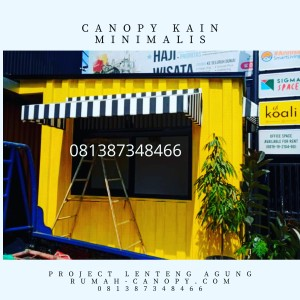 Harga pemasangan canopy kain di salah satu perusahaan travel jakarta | HARGALOKA.COM