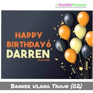 Katalog Custom Birthday Backdrop Banner Spanduk Ultah 1x1 M Katalog.or.id