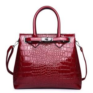 Harga tas sling wanita glossy kulit buaya sintesis model kunci     HARGALOKA.COM