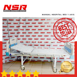 Harga bed ranjang pasien rumah sakit manual 1 axis abs terlaris | HARGALOKA.COM