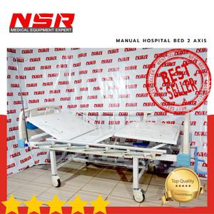 Harga bed ranjang pasien rumah sakit manual 2 axis abs terlaris | HARGALOKA.COM