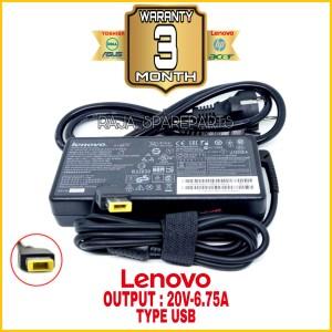Harga adaptor charger lenovo y700 y70 y50 y40 y50 70 20v 6 75a kotak | HARGALOKA.COM