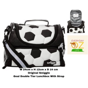 Harga smiggle goal double tier lunchbox with strap original   HARGALOKA.COM