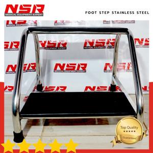 Harga terlaris tangga foot step stainless steel meja periksa rumah | HARGALOKA.COM