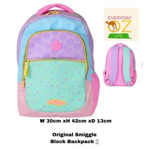 Harga smiggle block backpack pink tas ransel original | HARGALOKA.COM