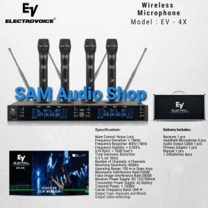 Harga mic wireless electro voice ev 4x | HARGALOKA.COM