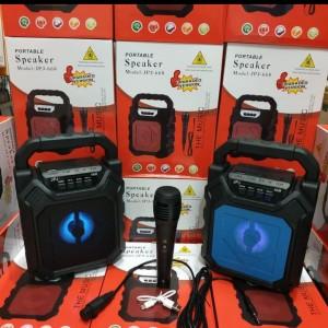 Harga speaket bluetooth portabel jpj 668 free mic kabel speaker   HARGALOKA.COM