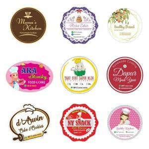 Harga stiker label produk makanan dan minuman | HARGALOKA.COM