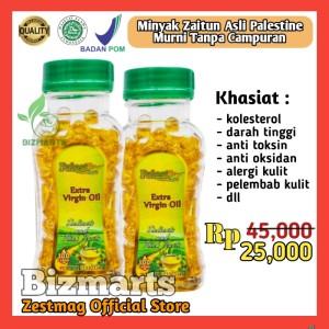 Harga minyak zaitun palestin 100 kapsul extra virgin atasi kolesterol | HARGALOKA.COM
