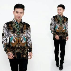 Harga baju batik kemeja lengan panjang original | HARGALOKA.COM