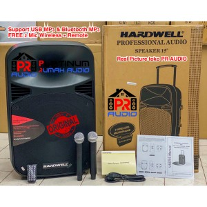 Harga speaker portable hardwell 15mhwr 15 mhwr original 15 inch usb | HARGALOKA.COM