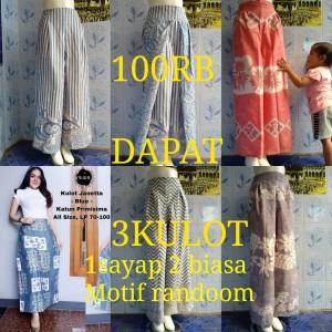 Harga grosir celana kulot layer batik wanita pastel termurah | HARGALOKA.COM