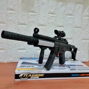 Harga mainan tembakan mp5 lampu suara   tembak tembakan   HARGALOKA.COM