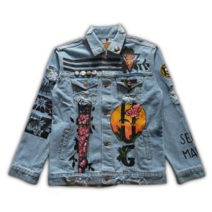 Harga arfacloth jaket jeans vintage paint rosechild | HARGALOKA.COM