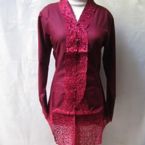 Harga baju kebaya encim merah maroon size | HARGALOKA.COM