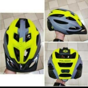 Harga helm sepeda poligon polygon cliff  yellow grey helm mtb terbaru     HARGALOKA.COM