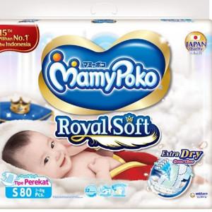 Harga popok bayi mamypoko royal soft s80 m72 tape perekat     HARGALOKA.COM