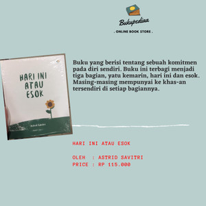 Harga buku novel hari ini atau esok   astrid | HARGALOKA.COM