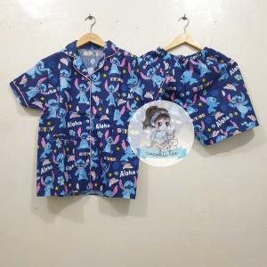 Harga piyama celana pendek hp baju tidur katun wanita stitch     HARGALOKA.COM