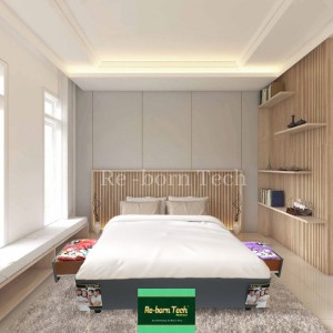 Harga divan dipan tempat tidur laci 2 besar mdf re born tech   | HARGALOKA.COM