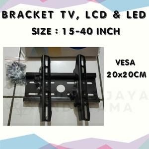 Harga bracket tv lcd led 15 34  32 34 vesa 20x20cm     HARGALOKA.COM