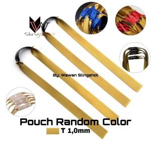 Harga karet ketapel impor warna gold t 1 0mm slingshot | HARGALOKA.COM