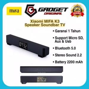 Harga xiaomi mifa k3 soundbar bluetooth wireless speaker dual stereo lcd   | HARGALOKA.COM