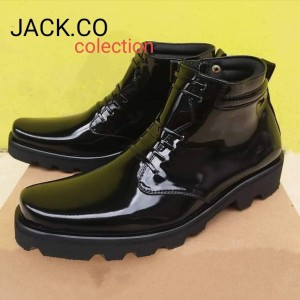 Harga sepatu pdh radial sepatu pdh pria sepatu pdh tni polri hitam glos   hitam   HARGALOKA.COM