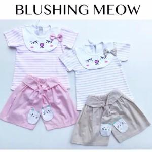 Harga blushing meow suit setelan bayi perempuan lucu murah baju | HARGALOKA.COM