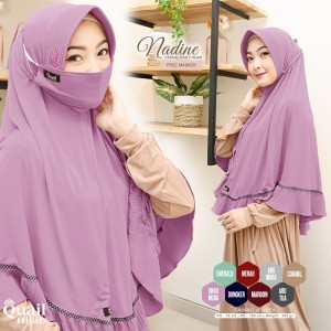 Harga kerudung nadine quail hijab syar 39 i jilbab bergo | HARGALOKA.COM