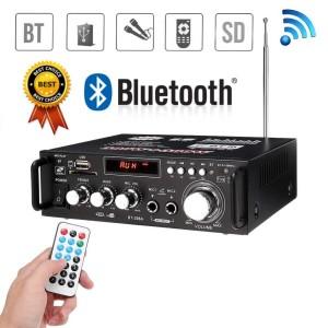 Harga amplifier junejour bluetooth hi fi stereo audio fm 600w | HARGALOKA.COM