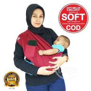 Harga gendongan bayi kain geos baby star gendongan katun tebal saku   navy | HARGALOKA.COM