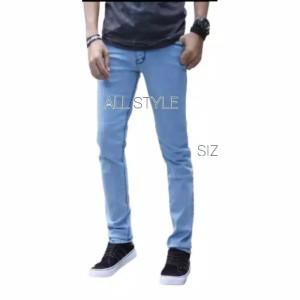 Harga celana jeans panjang pria premium   biru muda | HARGALOKA.COM