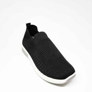 Harga sepatu impor sneakers pria cowok tanpa tali flyknit casual sport f07   hitam | HARGALOKA.COM